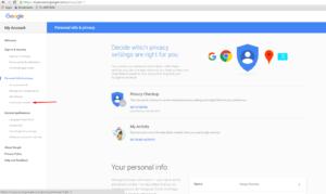 privacy content