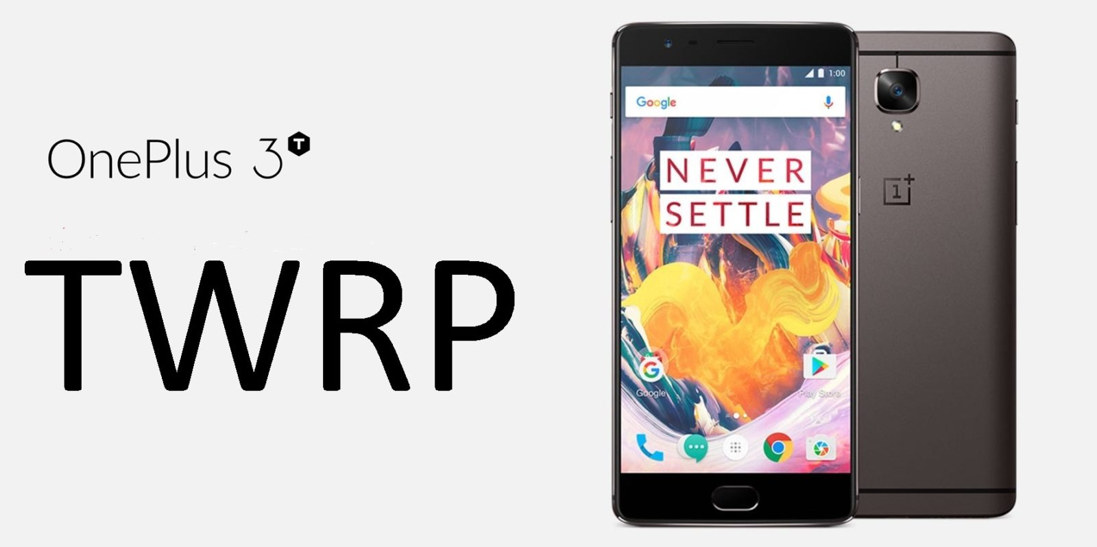 TWRP Recovery is available for the OnePlus 3T