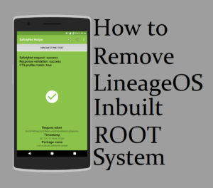 remove lineage os root
