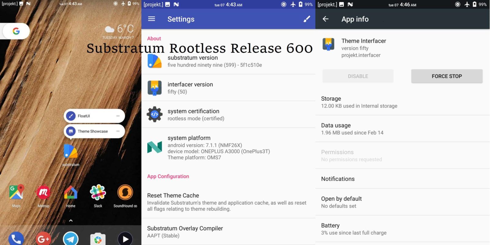 Substratum Theme Engine now Rootless Officially with Release 600