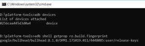 android device build fingerprint