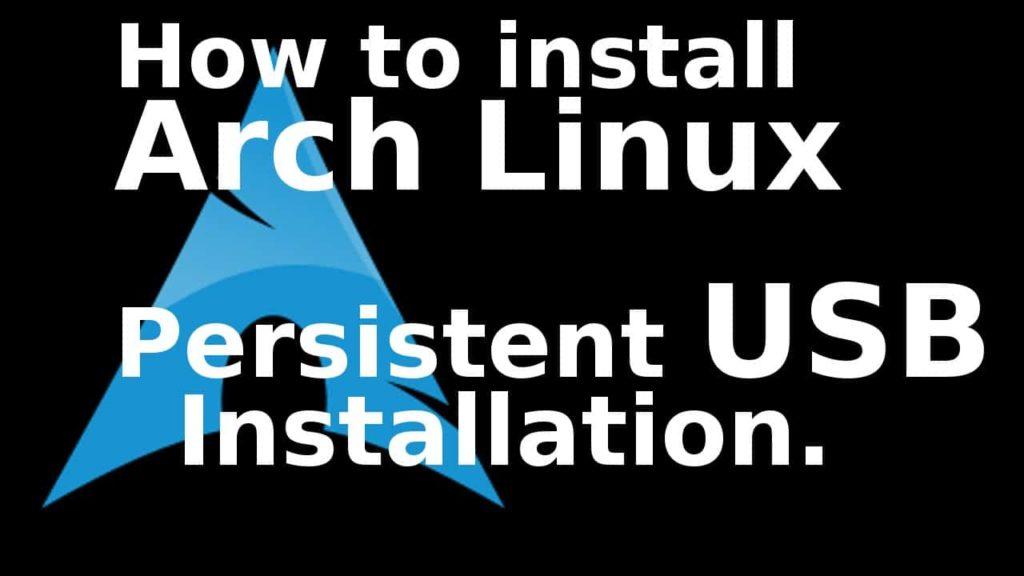 Mount USB arch linux